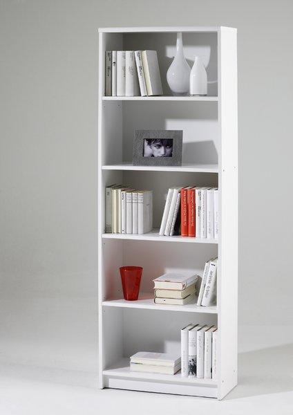 bücher - wohnzimmer regal lilly weiß - fritz ambiente